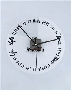 gifts: Personalised Good Use Of Time Perspex Clock!