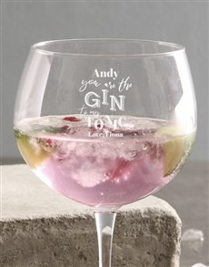 gifts: Personlised Gin To My Tonic Gin Glass!