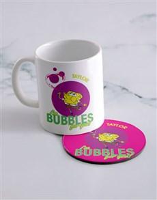 gifts: Personalised SpongeBob Bubbles Mug And Coaster!