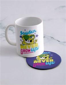 gifts: Personalised Grow Up SpongeBob Mug And Coaster!