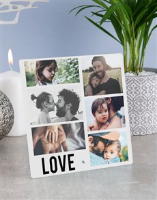 gifts: Personalised Love Photo Upload Glass Tile!
