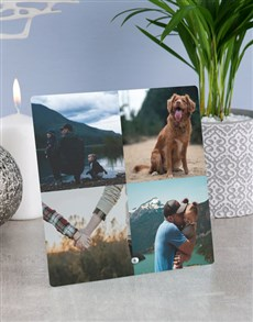 gifts: Personalised Date Photo Glass Tile!