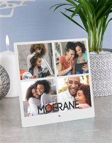 gifts: Personalised Surname Photo Upload Glass Tile!