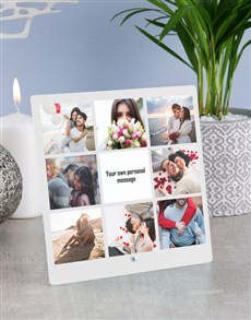 gifts: Personalised Message Photo Upload Glass Tile!