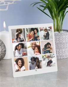 gifts: Personalised Nine Photo Upload Glass Tile!