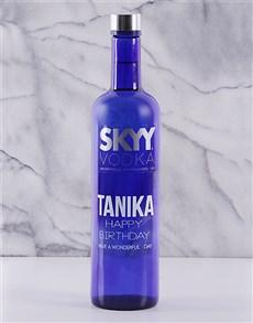 gifts: Personalised SKYY Vodka!