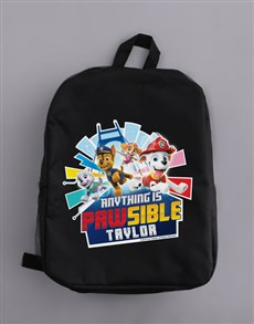 gifts: Personalised Paw Patrol Backpack!