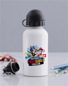 gifts: Personalised Paw Patrol Water Bottle!