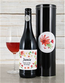 gifts: Personalised Flower Wine Tin!