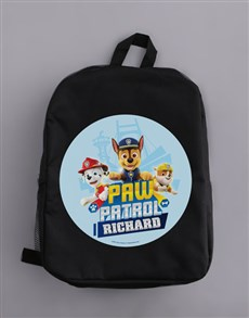 gifts: Personalised Paw Patrol Pups Backpack!