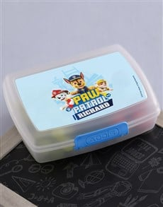 gifts: Personalised Paw Patrol Pups Lunchbox!