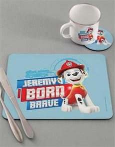 gifts: Personalised Born Brave Dinner Set!