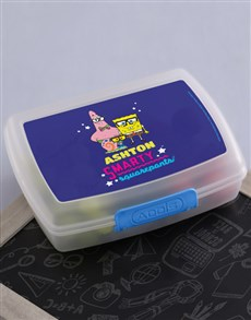 gifts: Personalised SquarePants Lunchbox!