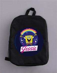 gifts: Personalised Rainbow SpongeBob Backpack!