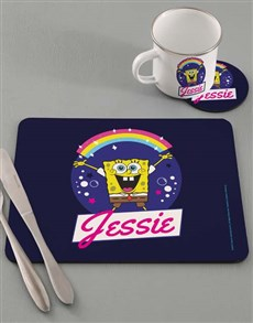 gifts: Personalised SpongeBob Rainbow Dinner Set!
