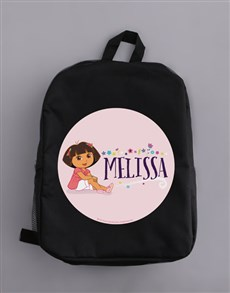 gifts: Personalised Dora Backpack!