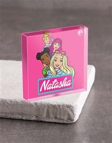 Picture of Personalised Barbie and Friends Acrylic Block!