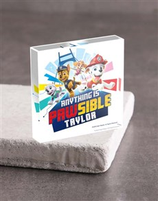 gifts: Personalised Paw Patrol Acrylic Block!