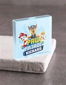 gifts: Personalised Paw Patrol Pups Acrylic Block!