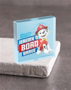 gifts: Personalised Born Brave Acrylic Block!