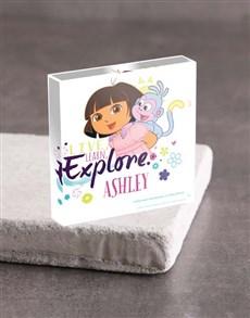 gifts: Personalised Dora the Explorer Acrylic Block!