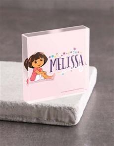 gifts: Personalised Dora Acrylic Block!