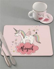 gifts: Personalised Cloudy Unicorn Kids Kitchen Set !
