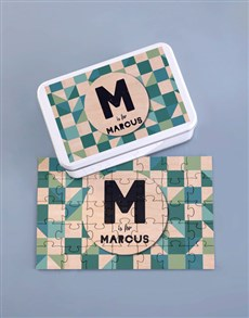 gifts: Personalised Patterned Wood Puzzle Set!
