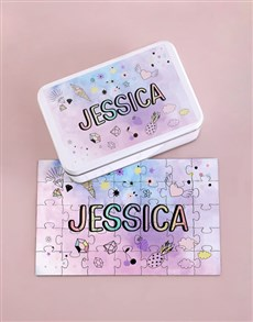 gifts: Personalised All That Glitters Wood Puzzle Set!