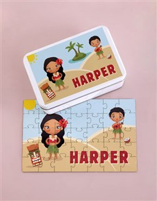 gifts: Personalised Fun Island Wood Puzzle Set!