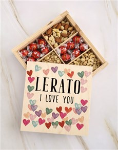 gifts: Personalised I Hearts You Fruit And Nuts Treasure!