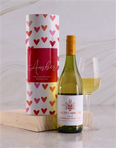 gifts: Personalised Hearts Wine Tube!