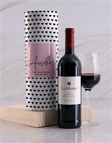 gifts: Personalised Black Hearts Wine Tube!