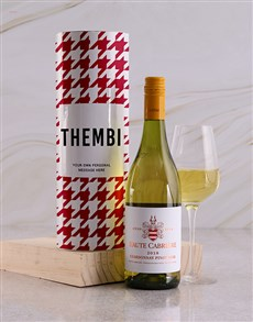 gifts: Personalised Red Houndstooth Wine Tube!