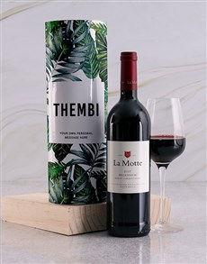 gifts: Personalised Leafy Wine Tube!
