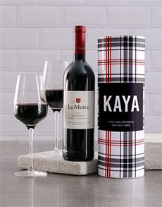 gifts: Personalised Tartan Wine Tube!