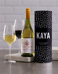 gifts: Personalised Starry Night Wine Tube!