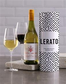 gifts: Personalised Geometric Wine Tube!
