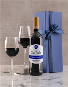 gifts: Personalised Cheers Blue Giftbox!