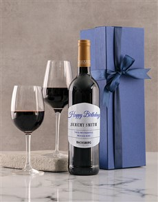 gifts: Personalised Blue Birthday Giftbox!