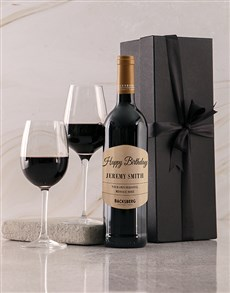 gifts: Personalised Black Happy Birthday Giftbox!