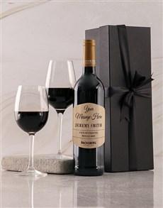 gifts: Personalised Black Backsberg Giftbox!