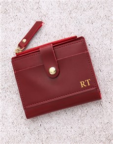 gifts: Personalised Burgundy Short Purse!