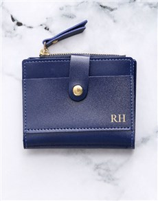 gifts: Personalised Navy Short Purse!