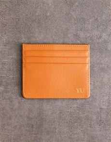 gifts: Personalised Tan Card Holder!