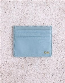 gifts: Personalised Blue Card Holder!