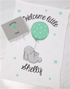 gifts: Personalised Welcome Keepsake Box With Blanket!