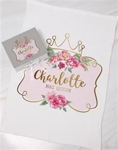 gifts: Personalised Queen Keepsake Box With Blanket!