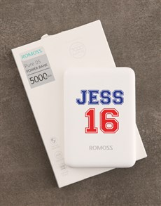 gifts: Personalised Sporty Romoss Power Bank!