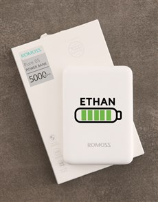 gifts: Personalised Battery Romoss Power Bank!